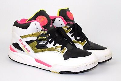 5f47a8bbaba Reebok The Pump Hexalite Vintage Mens Basketball Shoes White Pink Black 13