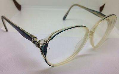 Vintage Givenchy Rx Eyeglasses 402 Aquamarine 54/12/130 Full Rim Multicolor RARE