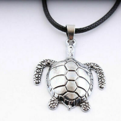 Unisex's Silver Stainless Steel Tortoise Pendant Necklace Fashion Jewelry Chain