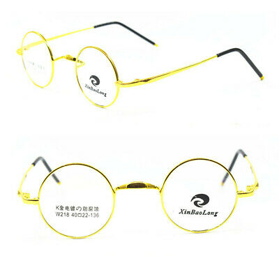 9b952cad310ea Vintage Small Round 40mm Titanium Eyeglass Frames Full Rim Glasses Rx able