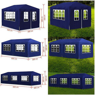 Outdoor Canopy Party Wedding Tent White Gazebo Pavilion Walls Garden Wigwam Blue