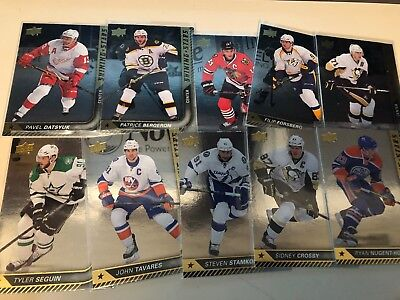 2015-16 Upper Deck Series 1 Shining Star complete set Centers ss21-30