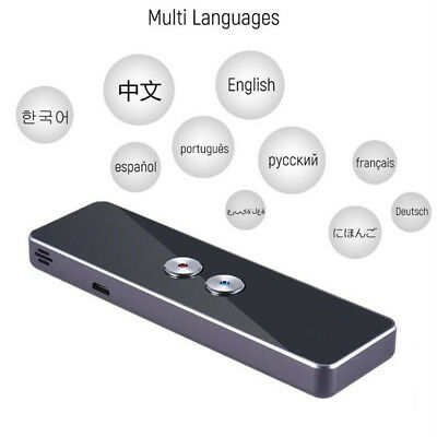 Portable Smart Voice Speech Translator Two-Way Real Time 30 Multi-Language Trans