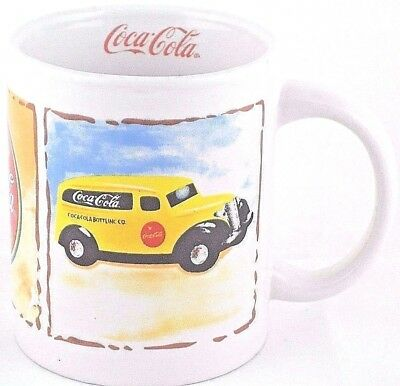 "Gibson Coca Cola Coffee Mug Soda Pop ICE COLD SOLD HERE Cup 3.75"" Tall Ceramic"