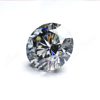 Loose Moissanite Grey Color (VVS1) 5.00 MM to 10.00 MM Round Excellent Cut