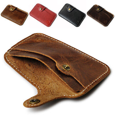 1PC Men Leather PU ID Credit Card Wallet Holder Slim Pocket Case Business Pouch