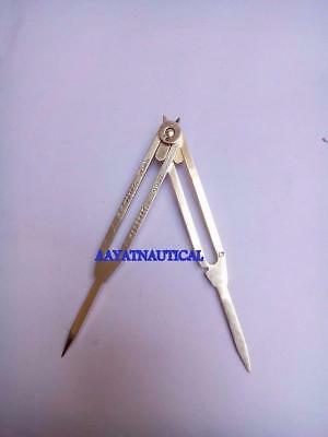 """Solid Brass Divider Drafting Proportional Tool 6"""" Navigational Compas Caliper  b"""