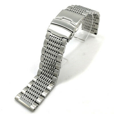 Replacement Wrist Watch Bracelet Band 304 Stainless Steel Double Clasp Strap New