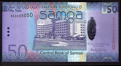 Samoa; Central Bank. 50 tala. 50th Anniversary of Bank. RE0505050. (2012). (P...