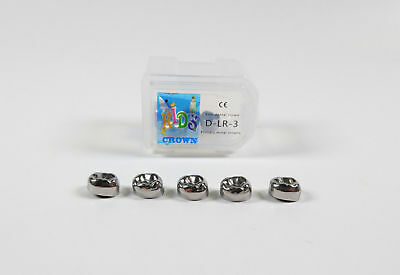 5 pcs Dental Kids Primary Molar Crown Stainless Steel Pediatric 48-Size be Chose