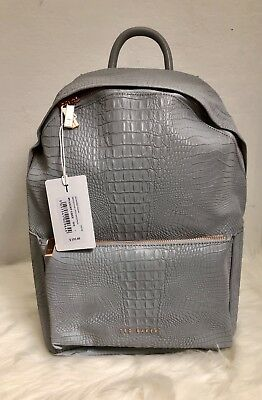 4db840c838 NEW Ted Baker Rahri Reflective Croc Embossed Faux Leather Backpack Ret   195🎀