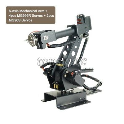 6-Axis Robot Arm Robotic Arm Industrial Mechanical Arm + MG996R MG90S Servos ts