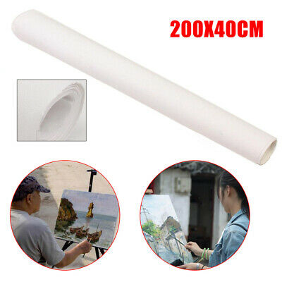 1PCs 200x40cm Stretched Artist Blank Canvas Roll Paint Cotton Oil Drawing Crafts