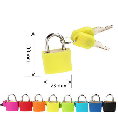 Copper Inside Colorful Small Case Padlock Travel Suitcase Lock With 2 Key