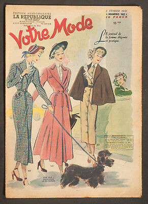 'votre Mode' French Vintage Newspaper 3 February 1949
