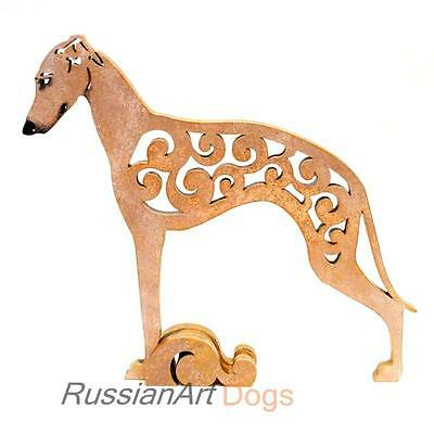 Italian Greyhound figurine, statue made of wood