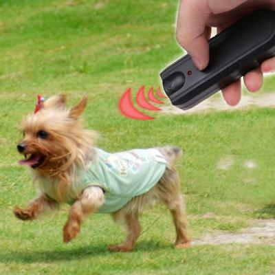 Garden LED Ultrasonic Animal Repeller Dog Stop Training Pet Anti Barking Device