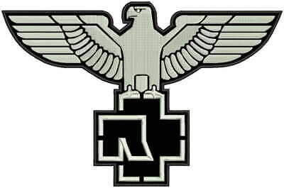 """12"""" RAMMSTEIN Eagle Embroi JACKET BACK PATCH EMBROIDERED SKULLS Iron / Sew on"""