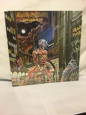 Iron Maiden Somewhere In Time Lp 1986 Htf First Press Sealed Beautiful Copy!!