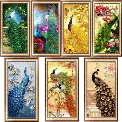 Peacock Full Drill DIY 5D Diamond Painting Embroidery Cross Stitch Large Size