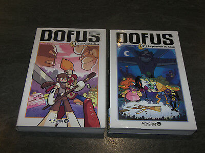 LOT MANGA LIVRE DOFUS VOLUMES 1 et 2 VERSION FRANCAISE ANKAMA EDITION OCCASION