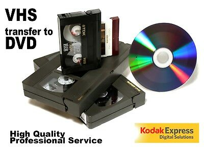 VHS VIDEO TO DVD TRANSFER SERVICE - all formats - HIGH QUALITY SERVICE