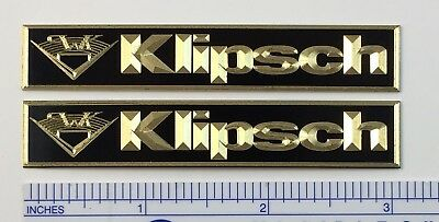 Custom Engraved Solid Brass Klipsch Speaker Badge logo Heresy Cornwall Chorus
