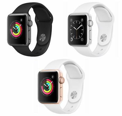 Apple Watch Series 3 38mm GPS Aluminum Case - Space Gray Silver Gold