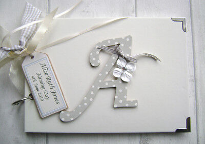 Personalised  Photo Album/Scrapbook.memory/Guest Book. Christening/.Naming Day.