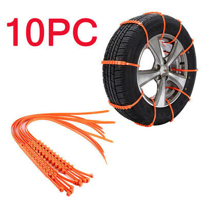 For Car Truck SUV Anti-Skid Emergency Winter Driving New 10 PCS Snow Tire Chain