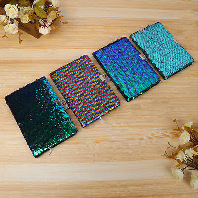 Magic Reversible Sequin Notebook Diary Lined A5 Journal With Lock & Key