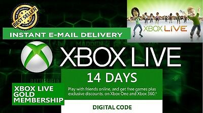 Xbox Live 14 Days Gold Trial Code FAST E-MAIL DELIVERY SALE!