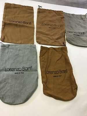"Lorenzo Banfi Dust Bag for Flats Shoes or Clutch Purse 7.5 x 12.3/4"" set of 5"