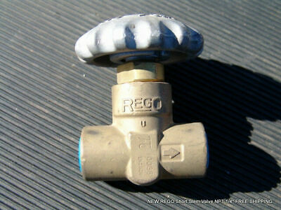 "NEW REGO T9452 Short Stem Valve NPT 1/4"" FREE SHIPPING"