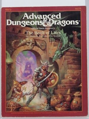 """TSR 9177 Official Game Accessory """"The Book of Lairs"""" (AD&D, D&D) 103003005"""