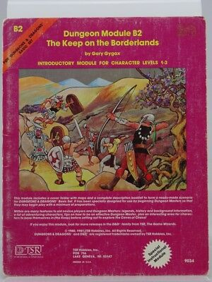 """TSR 9034 Dungeon Module B2 """"The Keep on the Borderlands"""" (AD&D, 1981) 103003005"""