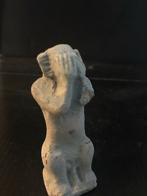 Rare Ancient Egyptian Faience Amulet Baboon 26th DYN 680 Bc