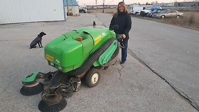 Tennant Green Machine diesel powered ride on sweeper with FREE shipping!