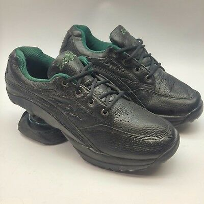 Z-COIL Black Leather Orthopedic Spring Comfort Pain Relief Shoes men's  size 9