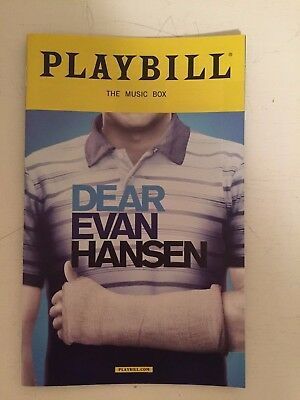 Dear Evan Hansen OBC playbill