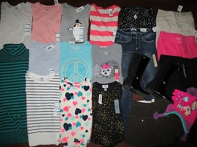 Girls Size 7  FALL WINTER SCHOOL Name Brand Lot Clothes & Outfits & Boots NEW!!