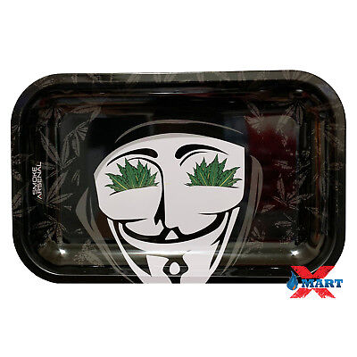 Smoke Arsenal DANKANONYMOUS 'V for VENDETTA' Tobacco Metal Rolling Tray 11x7