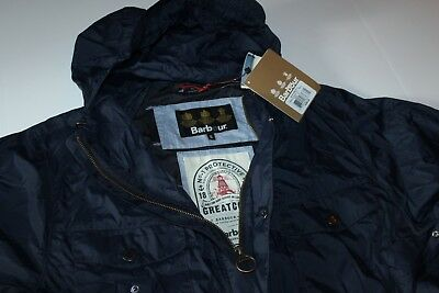 Barbour & Sons Aetna Jacket Coat Navy MCA0359NY51 New Large L UK Sizing