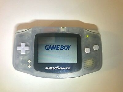 Nintendo Game Boy Advance Glacier Clear System Portable AGB-001 (TESTED WORKING)