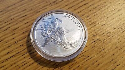 Lot of 2: 2017 South Korea Zi:Sin Series Gallus 1 oz .999 Silver BU Coin