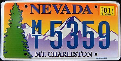"NEVADA "" MOUNT CHARLESTON "" TREE MOUNTAIN "" 2013  NV Specialty License Plate"