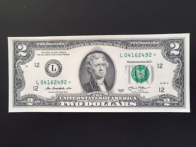 "Wow Star note 2013 $2 TWO DOLLAR BILL ( SAN FRANCISCO ""L""),UNCIRCULATED"