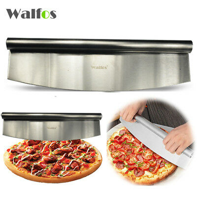 12 Inch Pizza Cutter Sharp Rocker Blade Premium Stainless Steel Pizza Knife