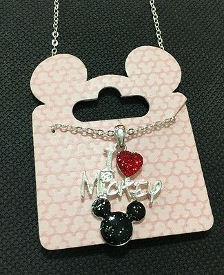 Disney I Love Mickey Pendant Girls Women's Necklace BNWT Mickey Mouse/Love Heart