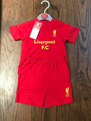LIVERPOOL FC BABY SOCCER SHORTS + T-SHIRT KIT SET - OFFICIAL - 9 to 12 MONTHS